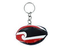 mini RUGBY BALL keychain keyring key chain ring leather flag MAORI