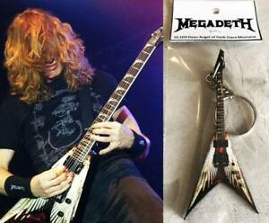 Keychain Guitar Dean Angel Of Deth Dave Mustaine Megadeth Brand New Sealed