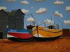 THE NET HUTS HASTING OLD TOWN 4 OPEN EDITION PRINT BY MICHAEL PRESTON
