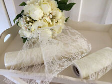 Wedding Vintage Style ivory Lace X1 Roll Pew Ends Chair Bows 10 Metres X 30cms