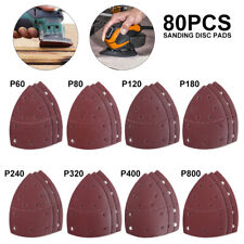 80pc 150mm Mouse Fogli Abrasivi 40-800 GRANA dettaglio Pad Orbitale Palmo Multi Tool