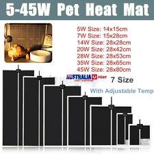 5-45W Pet Adjustable Heat Pads Reptile Heating Mat Climbing Warm Tem D1