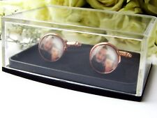 Photo Cufflinks Rose Gold Personalised Groom Wedding Gift Picture Memory Charm