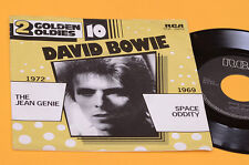"DAVID BOWIE 7"" 45 JEAN GENIE SPACE ODDITY ORIG HOLLAND EX UNIQUE DIFFERENT COVER"