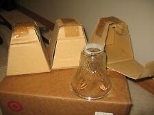 Three Clear Glass Light Lamp Shades