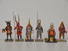 6 Samurai Zinn Figuren Set von Del Prado Japan 2002 7cm - 10,5cm grosse Figur