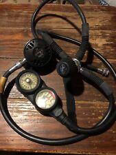 Dacor Pacer Xp Scuba Diving 2nd Regulator Set Up w/Psi and Depth Gauges