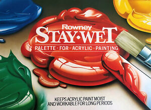 ROWNEY STAY-WET PALETTE WITH EXTRA PAPER REFILLS NEW!!!!!!!!!!!!!!!!!!
