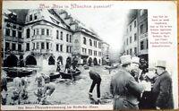 1905 Munich, Germany Postcard: Men Drinking Beer, Boats, Swimming- German