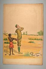 Rudolf Pick Pfui Tiger Lebel's Sport-Collection Giraffe um 1900 Original 38x59cm