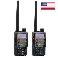 2x Baofeng UV-5R + Plus V/U Handheld Two-way Radio Walkie Talkie Transceiver US