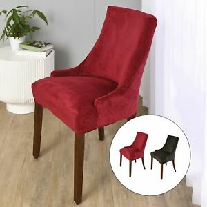 2pcs Stretch Wingback Chair Cover Slipcover Reusable Arm Chair Cover