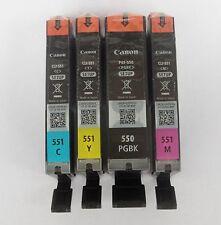 4x DRUCKERPATRONEN CANON PGI-550 CLI-551 XL IP7250 MG5550 MX925 MG5650