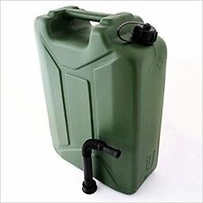 GREEN PLASTIC JERRY CAN FUEL PETROL DIESEL WATER CONTAINER WITH SPOUT 20 LITRE