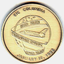 N061-C    NASA  SPACE  SHUTTLE  COIN /  MEDAL,  COLUMBIA,   STS-61-C