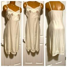 """New listing Vtg 50's Lerner'S Shops """"Satinaire"""" Pink W/ Cutwork Embroidery Full Slip Sz 38"""