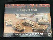 Flames of War Panzer IV Tank Platoon Afrika Korps. NEW!!