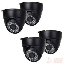 4x Wide Angle Security Camera 48 LED IR Color CCD Indoor Home Dome CCTV CMOS