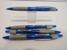 SET OF 4 SCHNEIDER LOX BALLPOINT PENS-GERMAN MADE-BLUE-775 BLUE REFILL