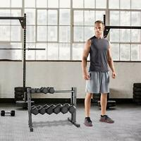 Dumbbell Rack Stand Weight Shelf Rack Holder Home Gym Storage Barbell 24 inch