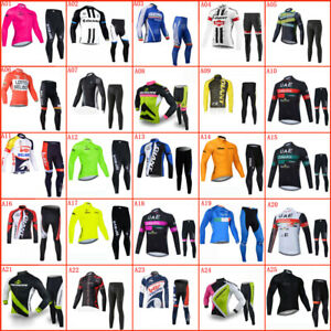 Men's Team Cycling Clothing Bicycle Jersey Top and Padded Pants Set Bike Outfits