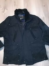 veste Armani xl 52 noir coton +leather militaire checkpoint cargo safari dg star