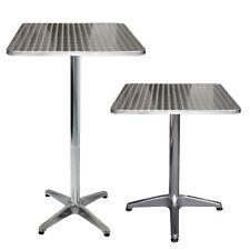 Aluminium Bistrotisch Stehtisch 60x60x70/110cm Beistelltisch Gartentisch Silber