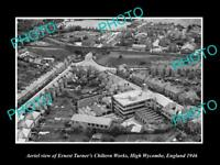 OLD LARGE HISTORIC PHOTO AERIAL VIEW CHILTERN WORKS HIGH WYCOMBE ENGLAND c1946