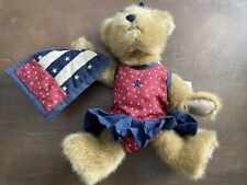 Boyds Bears Katie B. Bearyproud #918341 2002 10� Patriotic Plush/Quilt Nwt