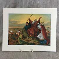 1860 Stampa Raphael Vecchio Master Pittura Moses Aaron Antico Cromolitografia