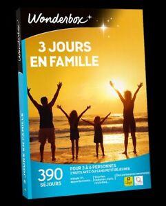 Coffret WONDERBOX  Week-end 3 jours en famille  ( E-COFFRET = dématérialisé )