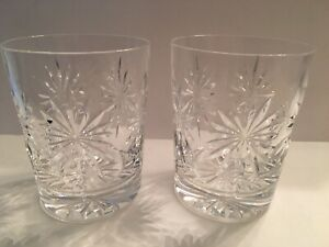 2 Vintage Waterford LISMORE ? Old Fashioned Rock Glasses / Tumblers