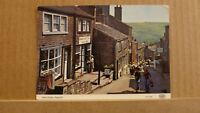Postcard Unposted Yorkshire Haworth, main street