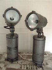 1 ITALIAN INDUSTRIAL GREY iGUZZINI WALL/CEILING LIGHT FITTING STEAMPUNK RETRO