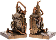 Steampunk Industrial Book Ends,Book Ends,Unique bookends,Steampunk bookend,decor