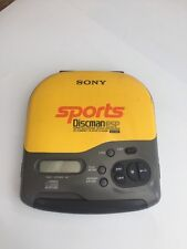 Rare Vintage Sony D-451SP Discman Walkman Personal CD Player Yellow Sports