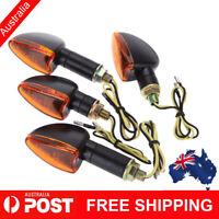 4pcs 12V Motorcycle Bike Bulb Amber Blinkers Signal Indicator Light Universal