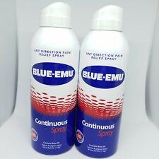 WOW!!  2 × Blue Emu Continuous Spray Pain Relief Emu oil 2 × 4 fl oz