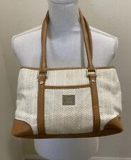 Liz Clairborne Women's Ivory Organizer Handbag Purse Divided Large Shoulder Bag