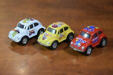 "FAIE 2.25"" ""The Little Beetle"" Small Diecast Volkwagen Bug Lot of 3 Crab & Kitty"
