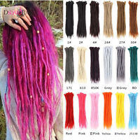 "20"" Single Ended Dreadlocks Synthetic Crochet Braids Dreads Lock Hair Extensions"