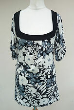 Square Neck Party 3/4 Sleeve Floral Tops & Shirts for Women