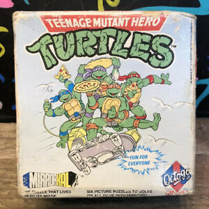 Teenage Mutant Hero Turtles Puzzle Game 6 Puzzles By Octogo games , Rare ?