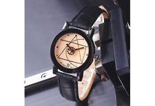 Relogio Masculino Designer Unique Quartz Analog Leather Band Watch