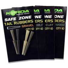 Korda Safe Zone Tail Rubbers for Fishing Weed Green
