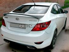 Hyundai Solaris Accent Verna liftback 2010-2014 rear trunk lip spoiler unpainted