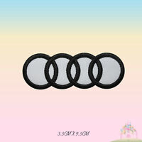 Audi Car Brand Logo Motor Sport Embroidered Iron On Patch Sew On Badge Applique