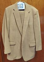 SASSOON 1970's Disco Beige Corduroy 3 Piece Men's Suit 48 long