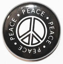 """1"""" (25mm) 'Peace Symbol' Button Badge Pin - High Quality - MADE IN UK"""
