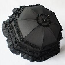 Cosplay Anime Girl Black Lace Princess Umbrella Parasol Sun/Rain/Snow Umbrella